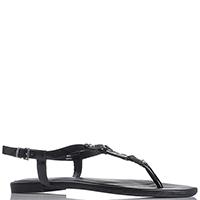 Сандалии Armani Jeans черного цвета без каблука, фото