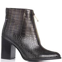 Ботинки Armani Jeans коричневого цвета с металлическим отливом, фото