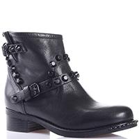 Ботинки Mimmu черного цвета с декором-ремешком, фото
