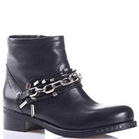 Женские ботинки Mimmu черного цвета с цепочкой, фото