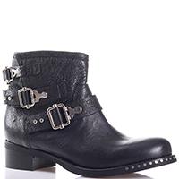 Черные ботинки Mimmu с декором-ремешками, фото