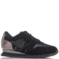 Кроссовки Blauer черного цвета с пайетками, фото