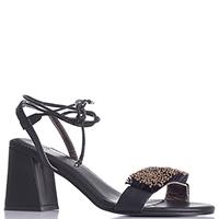 Черные босоножки Apepazza с бусинами на шнуровке, фото