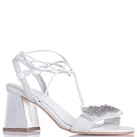 Белые босоножки Apepazza с бусинами на шнуровке, фото