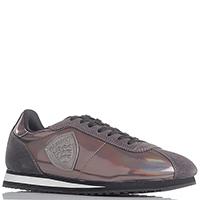 Коричневые кроссовки Blauer с замшевыми вставками, фото