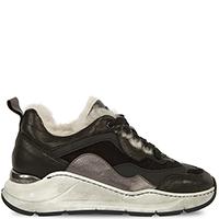 Кроссовки Prima черного цвета с гранжевой подошвой, фото