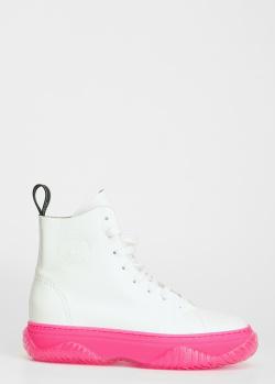 Кожаные ботинки N21 с акцентной подошвой, фото