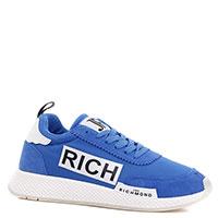 Синие кроссовки John Richmond на белой подошве, фото