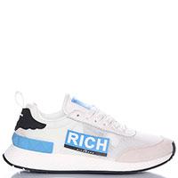 Белые кроссовки John Richmond с замшевыми вставками, фото