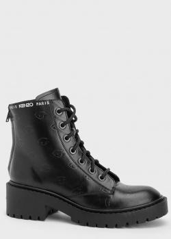 Черные ботинки Kenzo с тиснением в виде глаз, фото