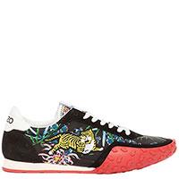 Черные кроссовки Kenzo с вышивкой, фото