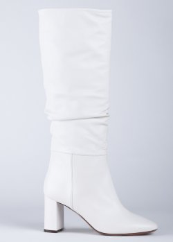 Белые сапоги L'autre Chose на среднем каблуке, фото