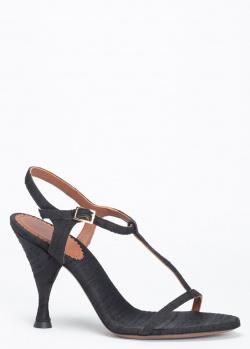 Черные босоножки L'Autre Chose из текстиля, фото