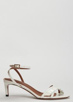 Лаковые босоножки L'Autre Chose белого цвета, фото