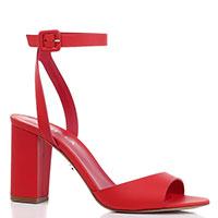 Красные босоножки Le Silla на высоком каблуке, фото