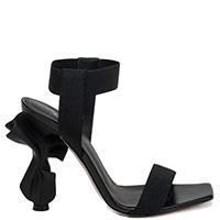 Босоножки Le Silla с декорированным каблуком в черном цвете, фото