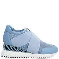 Голубые кроссовки Le Silla Reiko с перфорацией, фото