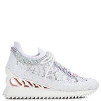 Кружевные кроссовки Le Silla Reiko белого цвета, фото