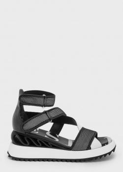 Черные сандалии Le Silla на танкетке, фото