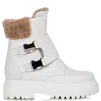 Белые ботинки Le Silla Ranger с пряжками, фото