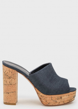 Джинсовые мюли Le Silla Alyssa на устойчивом каблуке, фото
