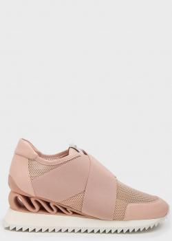 Пудровые кроссовки Le Silla на танкетке, фото