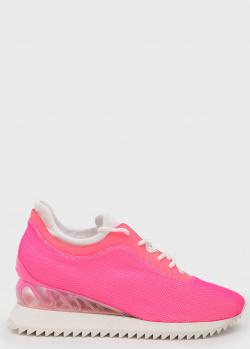 Розовые кроссовки Le Silla Claire на шнуровке, фото