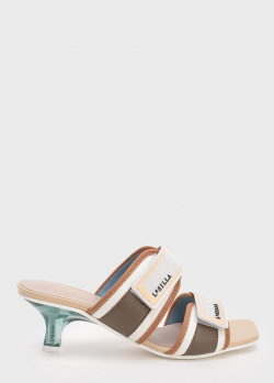 Мюли с квадратным носком Le Silla на прозрачном каблуке, фото