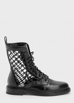 Черные ботинки Le Silla Vanessa с сетчатыми вставками, фото