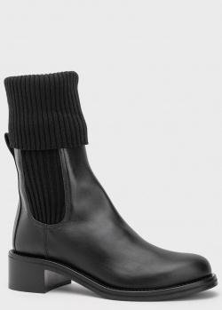 Кожаные ботинки Le Silla черного цвета, фото