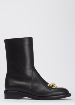 Кожаные ботинки Helena Soretti с цепью, фото