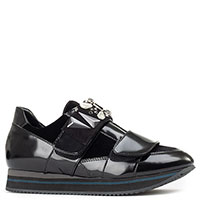 Кроссовки Lorenzo Mari черного цвета на липучке, фото