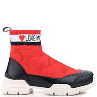 Женские кроссовки Love Moschino на толстой подошве, фото