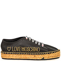 Черные эспадрильи Love Moschino на шнурках, фото