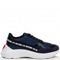 Женские кроссовки Love Moschino синего цвета, фото