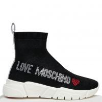 Черные кроссовки Love Moschino с чулками, фото