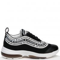 Черные кроссовки Love Moschino с белыми вставками, фото