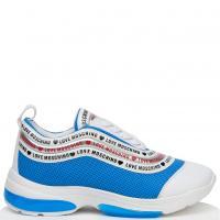 Голубые кроссовки Love Moschino на толстой подошве, фото