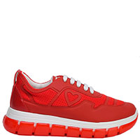Красные кроссовки Love Moschino на толстой подошве, фото