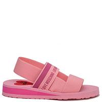 Розовые сандалии Love Moschino с логотипом, фото