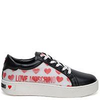 Женские кеды Love Moschino с принтом в виде сердец, фото