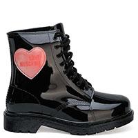 Черные ботинки Love Moschino с сердцем, фото