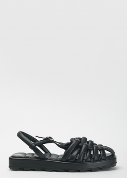 Черные сандалии Massimo Granieri с закрытым носком, фото