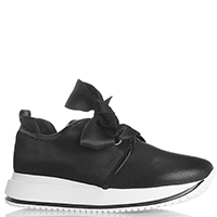 Черные кроссовки Giada Gabrielli с бантом на толстой подошве, фото