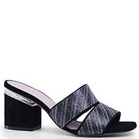 Мюли Nila&Nila черного цвета с квадратными носками, фото