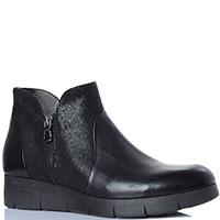 Ботинки Repo из кожи черного цвета с декоративной молнией на тыльной стороне, фото