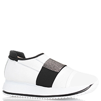 Белые женские кроссовки Giada Gabrielli без шнуровки, фото