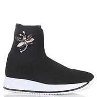 Ботинки Giada Gabrielli черного цвета с декором брошью, фото