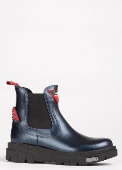 Утепленные ботинки Lab Milano из синей кожи, фото