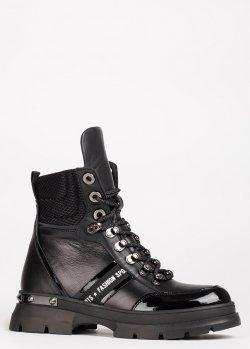 Черные ботинки Ilasio Renzoni утепленные мехом, фото